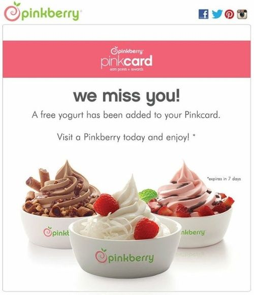 pinkberry email campaign