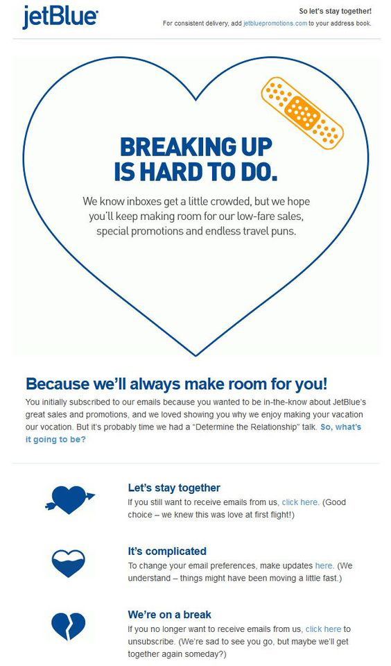 jetblue-email-campaign