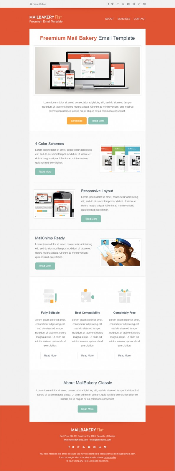 Freemium Mail Bakery Email Template