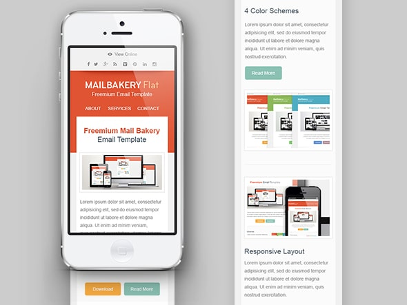 Free HTML Email Template Mobile