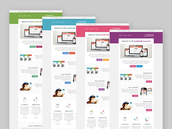 Free HTML Email Template Color Schemes