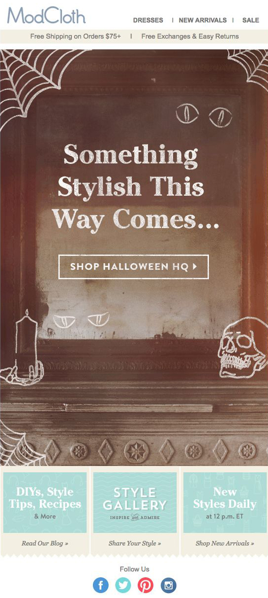 modcloth email halloween