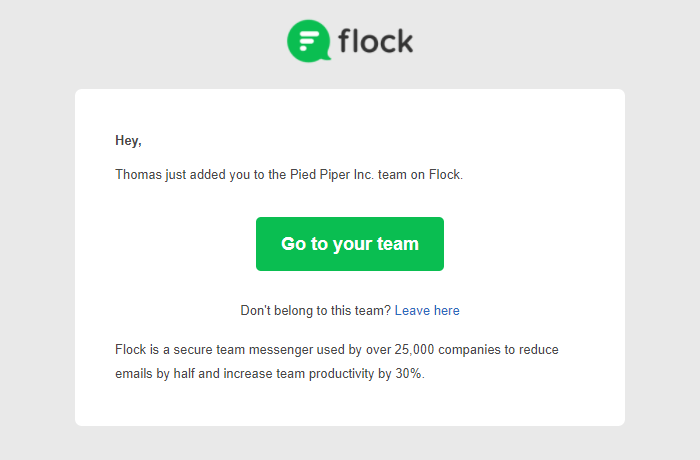 flock email marketing campaign examples