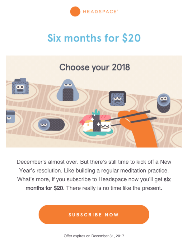 headspace email marketing campaign examples