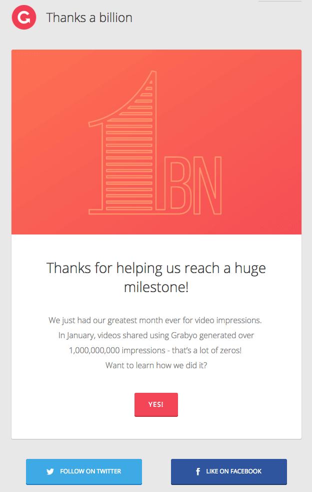 Grabyo customer appreciation email marketing