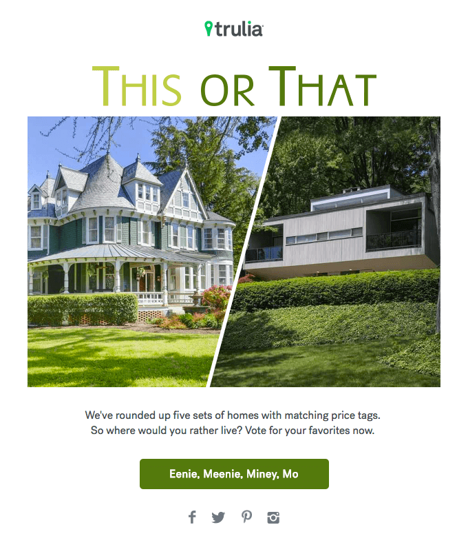 trulia real estate email newsletter examples