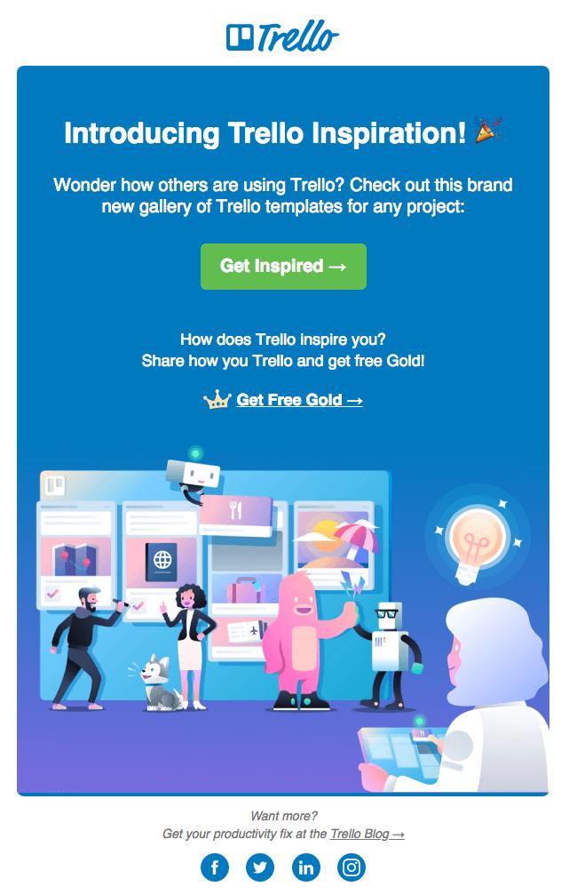 email marketing inspiration Trello