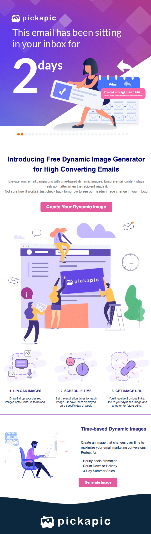 email marketing inspiration pickapic