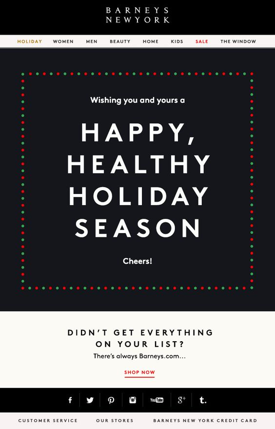 barney's holiday email
