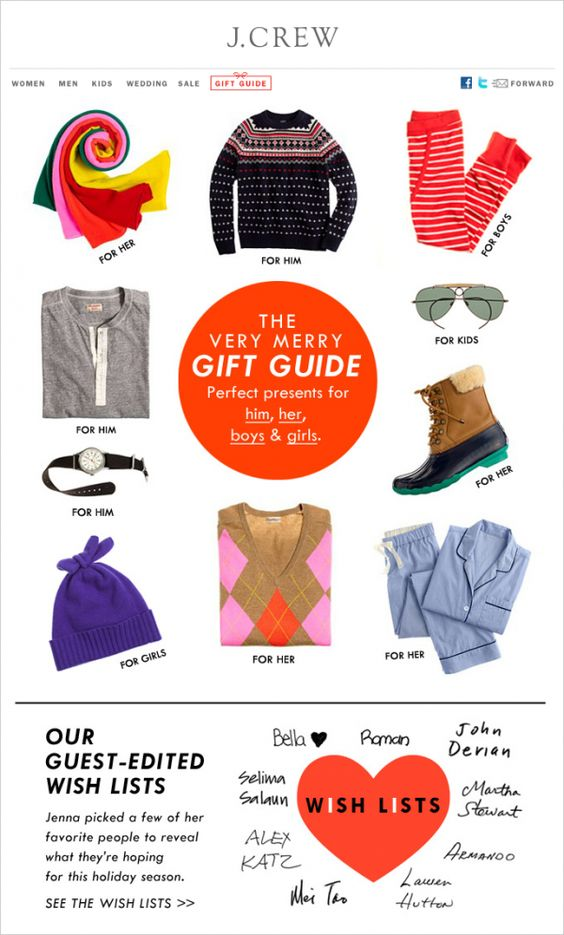 J Crew gift guide