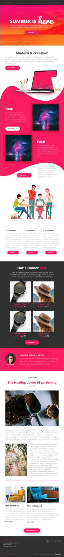 MailNinja Summer Responsive Email Template