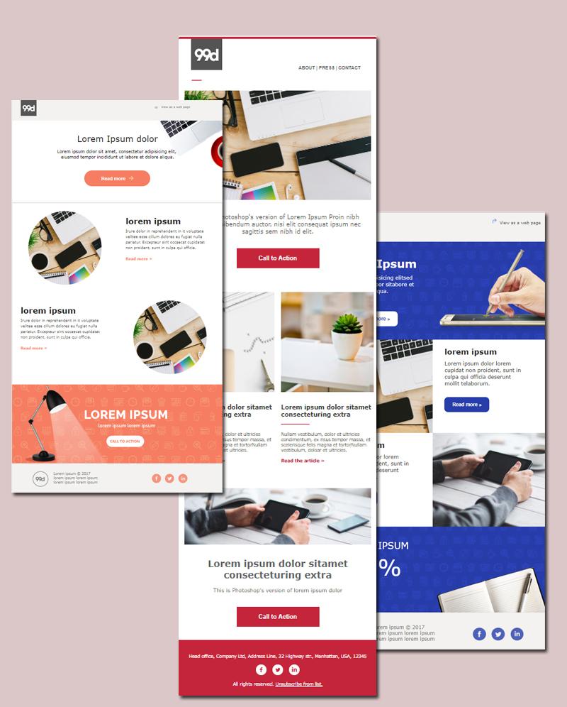 MailChimp templates by 99designs 3