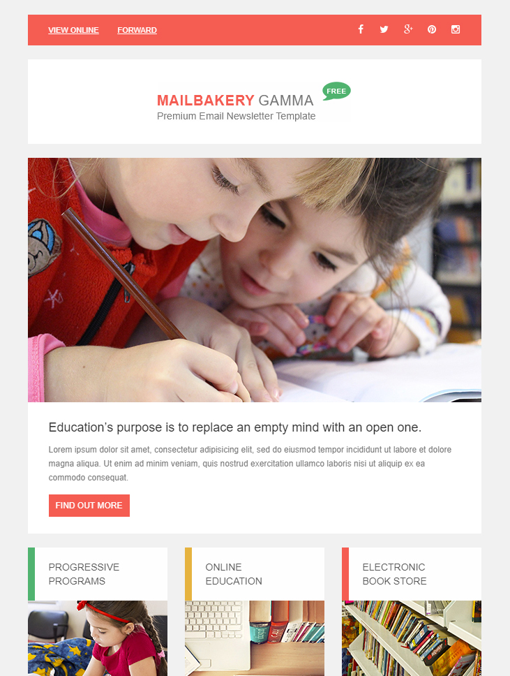free-html-email-newsletter-education
