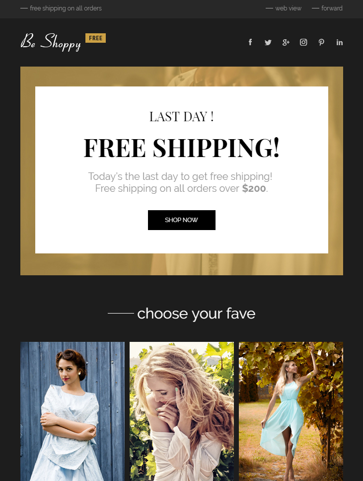 free-ecommerce-html-email-template