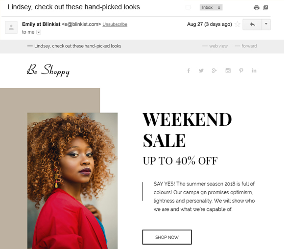Subject lines that are personalized