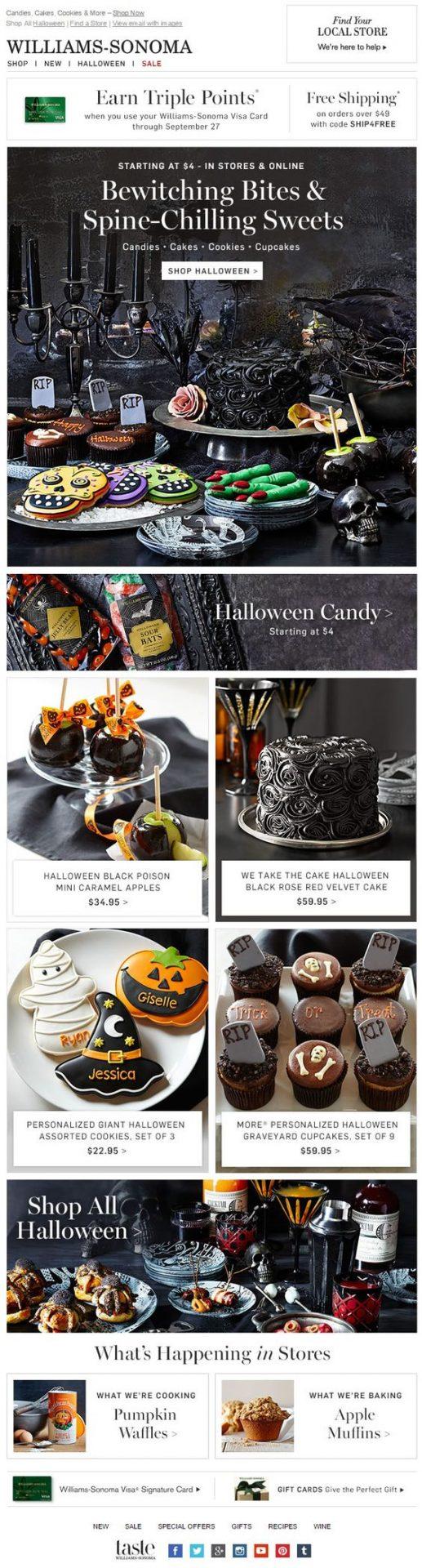 williams sonoma halloween party treat ideas