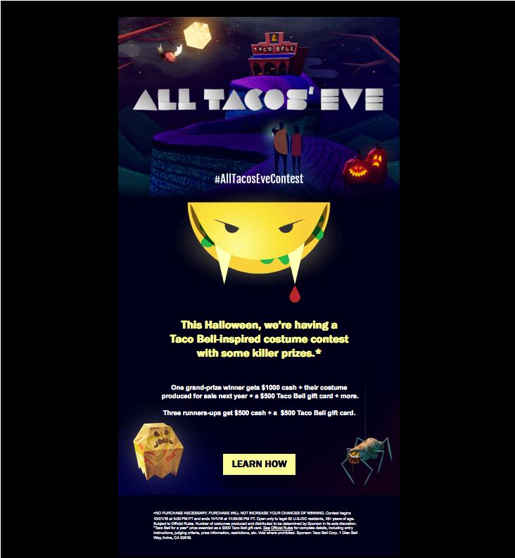 taco bell halloween costume contest