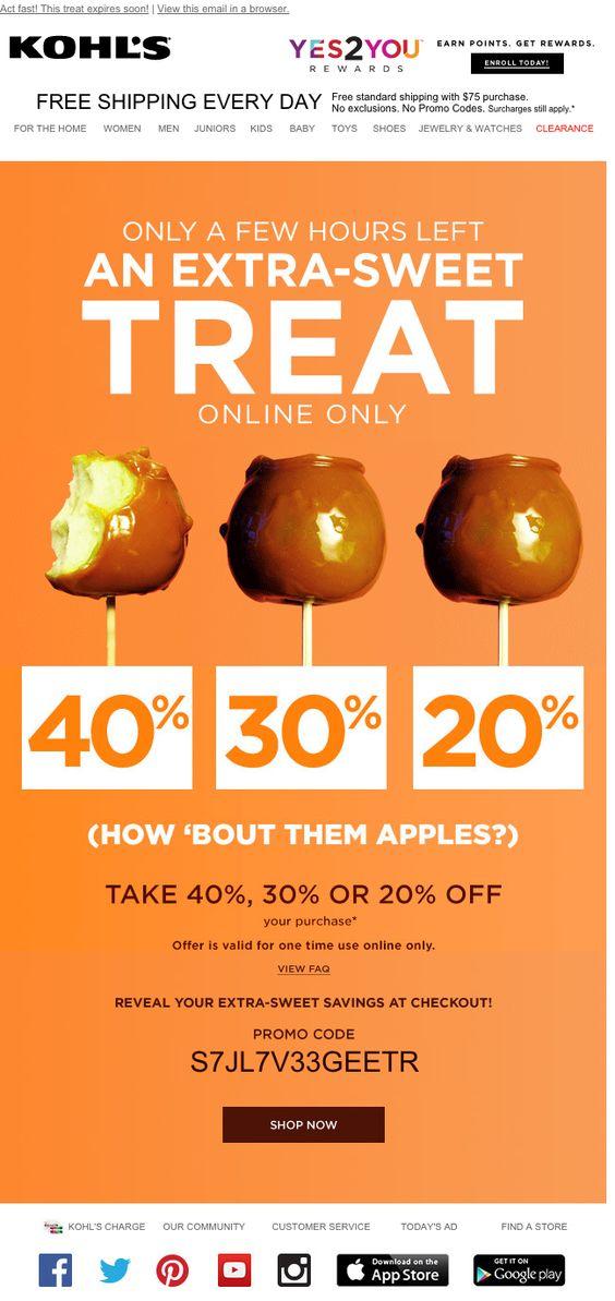 kohls candy apple sweet discount offer