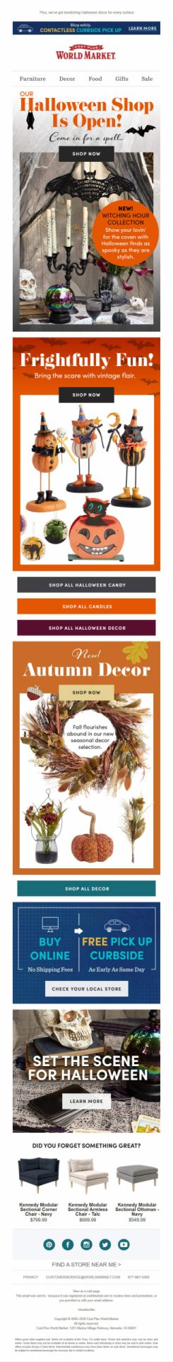 world market fall and halloween decorations