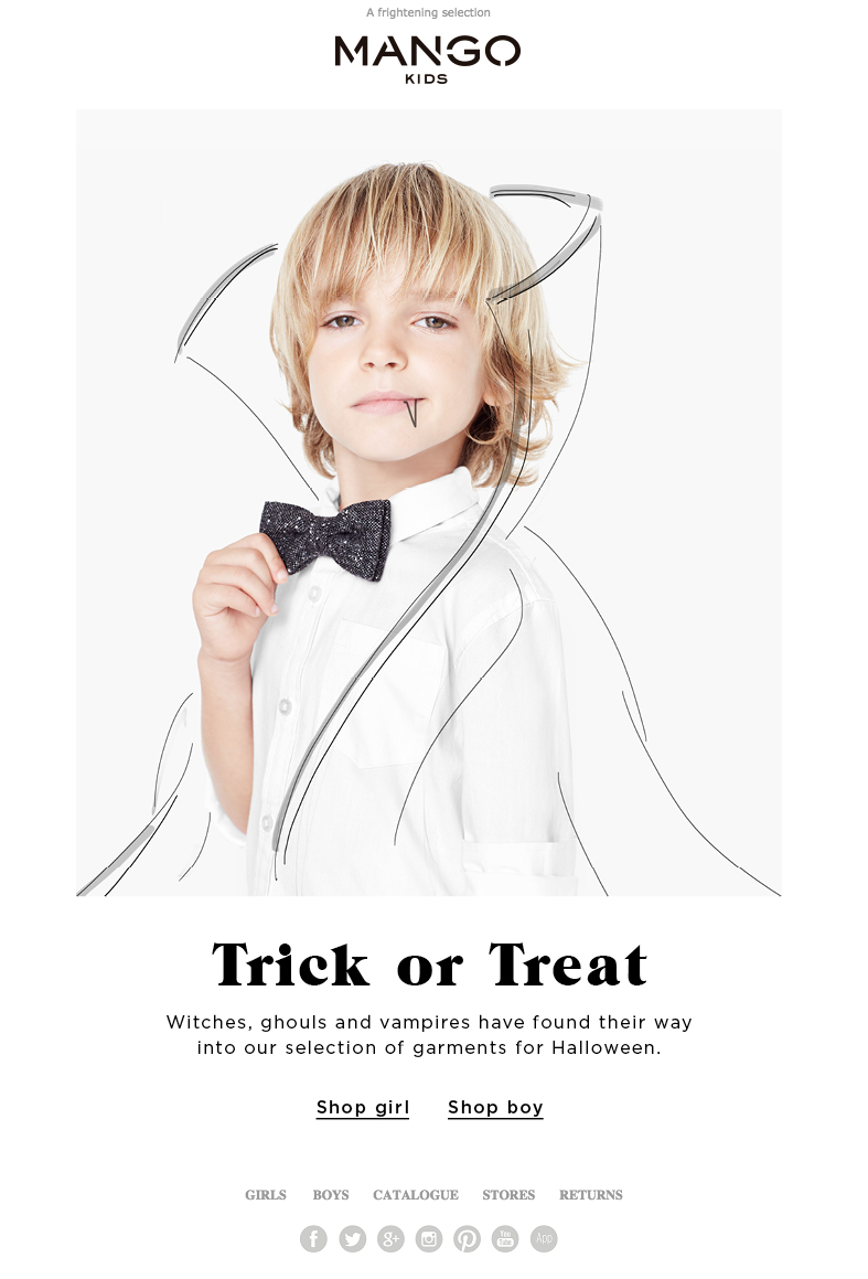 picture of child with a sketch of a vampire costume overlaid on him