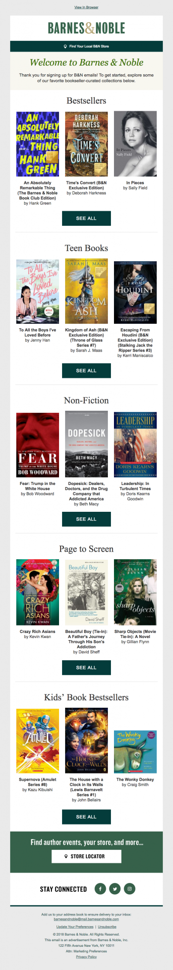 Barnes & Noble book recommendation email