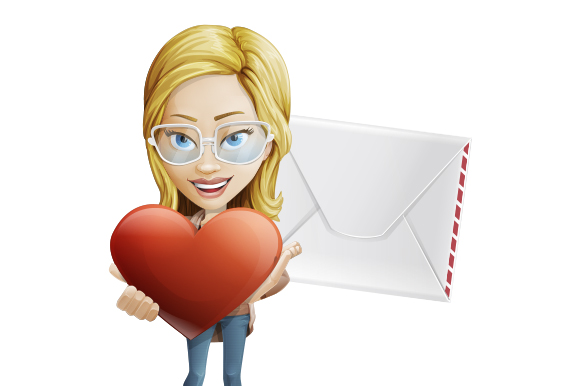 A woman holding a big heart symbolizing the act of personalization in emails - Things Email Marketers Should Do as Businesses Reopen