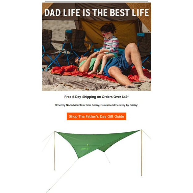 Kelty - Father's Day Email Campaign Examples